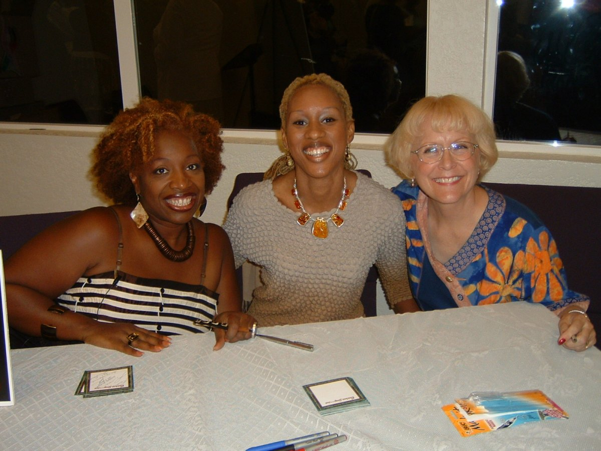 With Lisa Nichols, Sanyika Calloway Boyce at Faith Fellowship Church
