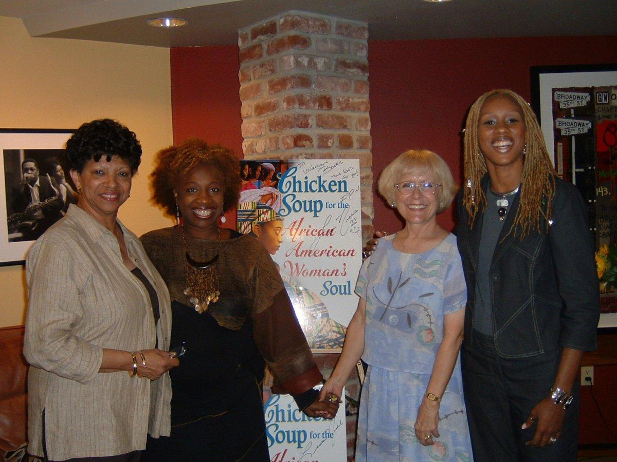 With Mother Rose, Lisa Nichols and Sanyika Calloway Boyce