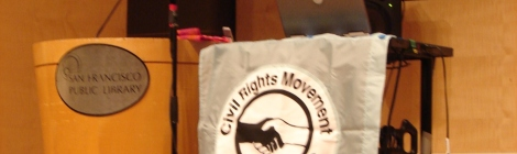Podium at the Veterans of the Civil Rights Movement Conference